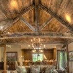 Reclaimed Post and Beam - Great Room