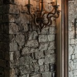Reclaimed Post and Beam - Interior Stone Wall