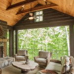 Post and Beam Porch with Fireplace