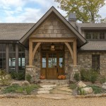 Front exterior Mountain Air custom home