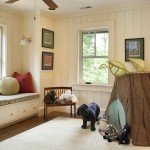 Play room with storage bench